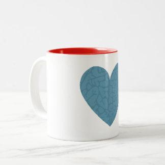 Gehirn-Herz Zweifarbige Tasse