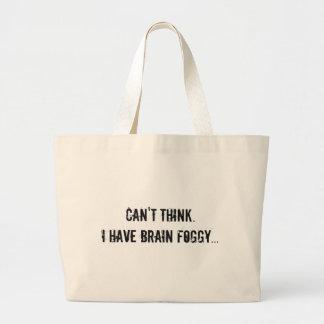 Gehirn nebelig jumbo stoffbeutel