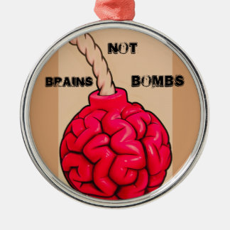 Gehirn-nicht Bomben Silbernes Ornament
