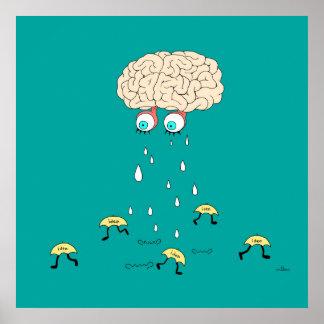 Gehirn Poster