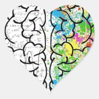 Gehirn-Reihe Herz-Aufkleber