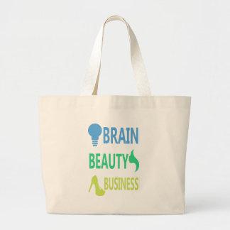 Gehirn-Schönheits-Geschäft Jumbo Stoffbeutel