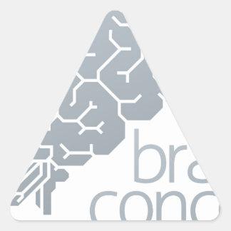 Gehirn-Seitenkonzept Dreieckiger Aufkleber