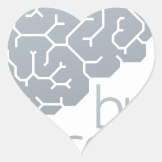 Gehirn-Seitenkonzept Herz-Aufkleber
