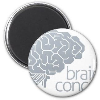 Gehirn-Seitenkonzept Runder Magnet 5,7 Cm