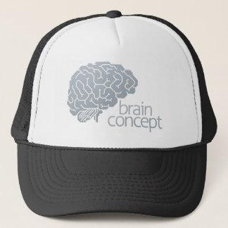 Gehirn-Seitenkonzept Truckerkappe