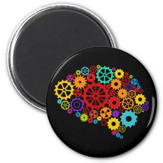 Gehirn übersetzt Magneten Runder Magnet 5,7 Cm