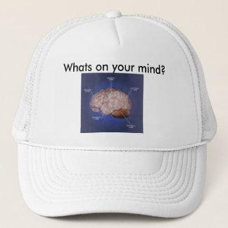 Gehirn, was ist auf Ihrem Verstand? Truckerkappe