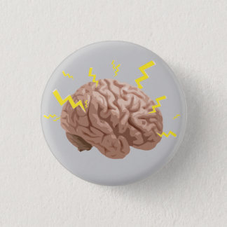 Gehirn ZAP! Runder Button 2,5 Cm