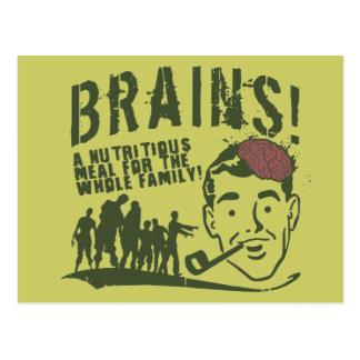 Gehirne! Postkarte