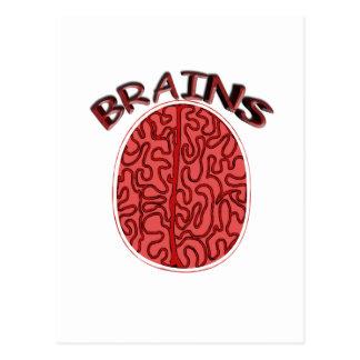 Gehirne Postkarte