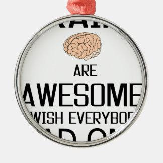 Gehirne sind fantastisch rundes silberfarbenes ornament