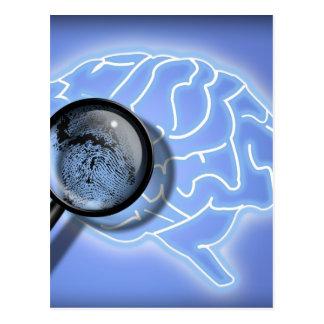 Gehirnfingerabdruck Postkarte