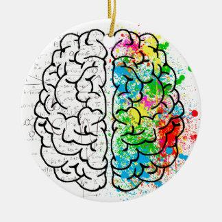 Gehirnsinnespsychologie-Ideenherzen Keramik Ornament