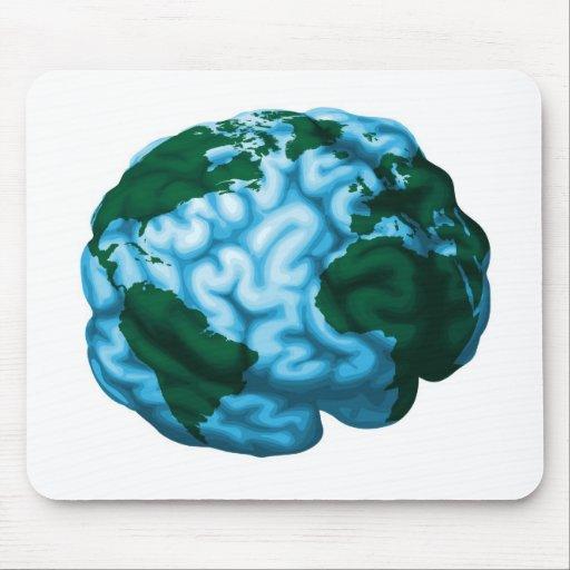 Gehirnweltkugelillustration Mousepad
