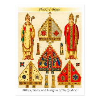 Gehrungsfugen, Tracht und Insignien des Bischofs Postkarte