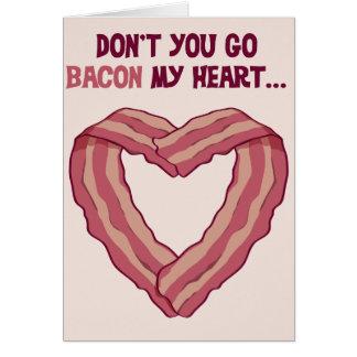 Geht nicht SPECK mein Herz - romantische Karte für