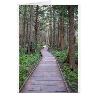 Gehweg durch Holz Karte