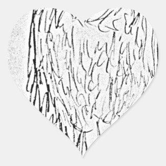 Geier Herz-Aufkleber