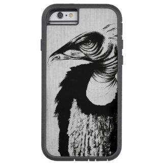 Geier, Raubvogel Augen-Federn zeichnend Tough Xtreme iPhone 6 Hülle