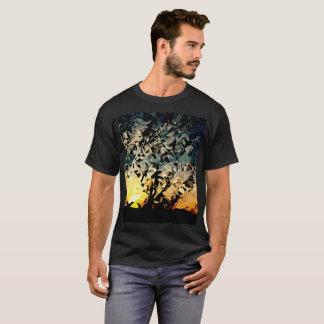 Geige in einem Heuschober T-Shirt