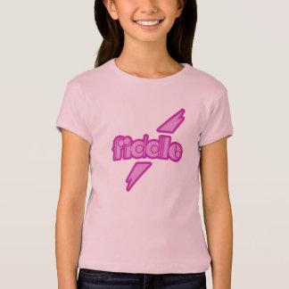 Geige Power-Mädchen T - Shirt