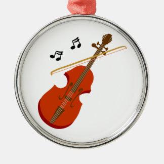 Geige Violine Violine Silbernes Ornament