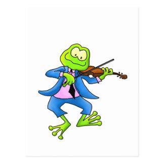 Geigen-Frosch Postkarte