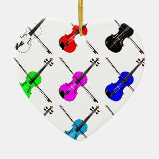 Geigen Keramik Ornament