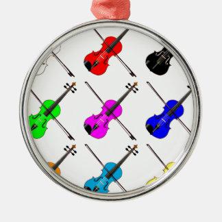 Geigen Silbernes Ornament
