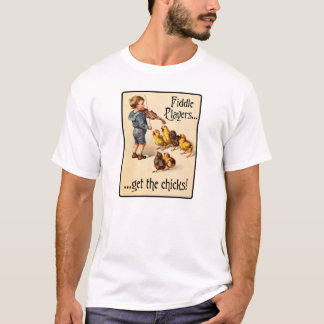 Geigen-Spieler erhalten den Küken Violinen-Musik T-Shirt