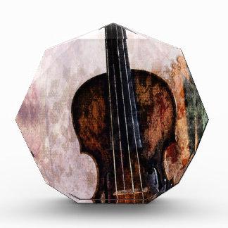 Geigen-Violine Musikinstrument des Impressionismus Acryl Auszeichnung