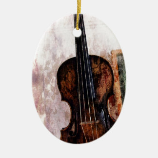 Geigen-Violine Musikinstrument des Impressionismus Keramik Ornament