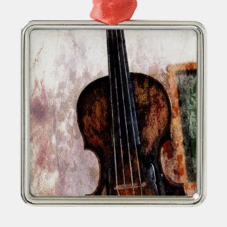 Geigen-Violine Musikinstrument des Impressionismus Silbernes Ornament