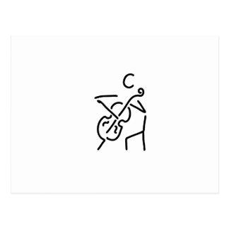 geiger cellistin streicher kontrabass postkarte