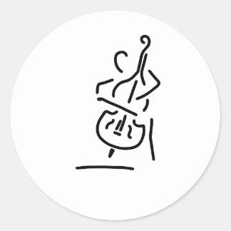 geiger cellistin streicher kontrabass runder aufkleber