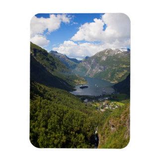 Geiranger Fjordlandschaft, Norwegen Magnet