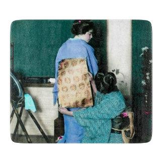 Geisha, der KimonoObi auf den Geisha Vintag Schneidebrett