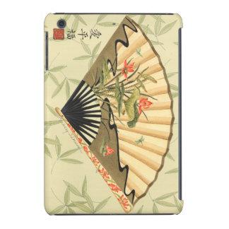 Geisha-Fan mit Blätter und Blumendruck iPad Mini Retina Schale