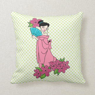 "Geisha GirlThrow Kissen 16"" x 16"""