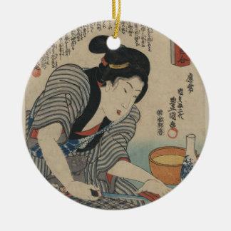 Geisha Keramik Ornament