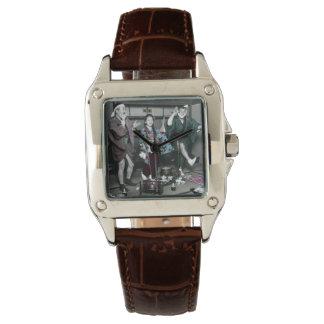 Geisha-Party-Zeit auf alten Vintagen Japaner Armbanduhr