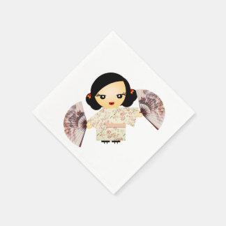 Geisha-Rose Papierserviette