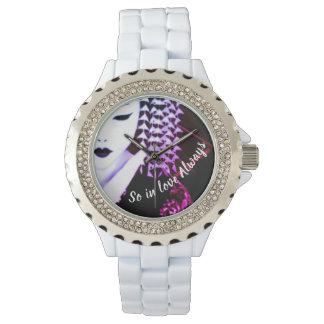 "Geisha ""so in der Liebe immer "" Armbanduhr"