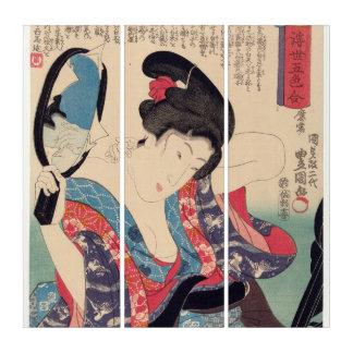 Geisha und Spiegel Triptychon