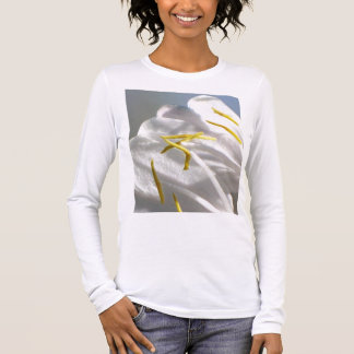 Geißblatt-Blumen-Blumenblätter Langarm T-Shirt