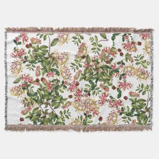 Geißblatt-Blumen-Blumengartenthrow-Decke Decke