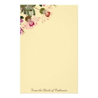 Geißblatt-Blumen-botanisches mit Blumenbriefpapier Briefpapier