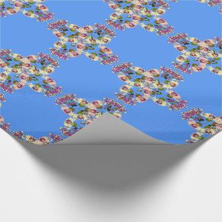 Geißblatt-Blumen-Vintages Blumenverpackungs-Papier Geschenkpapier