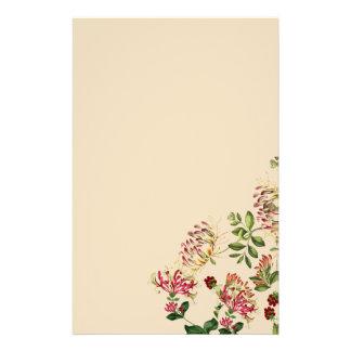 Geißblatt-botanisches Blumen-mit Blumenbriefpapier Briefpapier